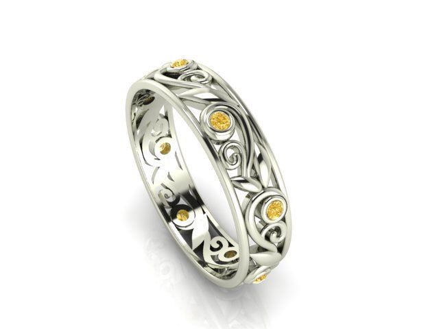 Yellow Diamonds Eternity Band, Pure Intense yellow Diamond ring by BridalRings on Etsy https://www.etsy.com/listing/219879566/yellow-diamonds-eternity-band-pure