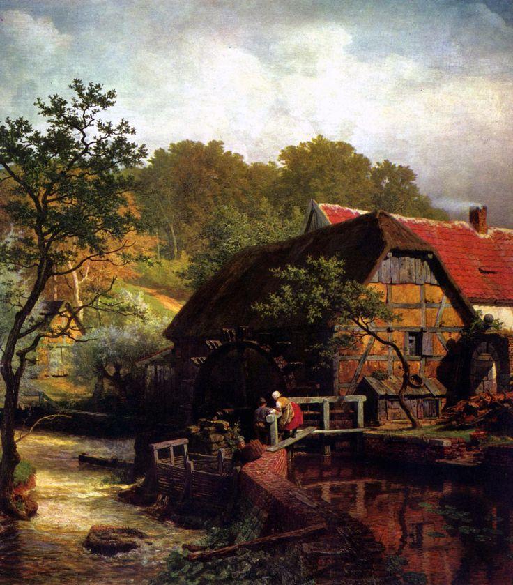 Achenbach,_Andreas_-_Westfälische_Wassermühle.jpg (2024×2309)