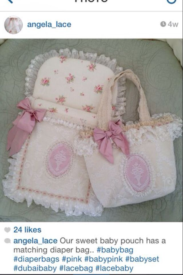 Baby pouch with matching diaper bag.