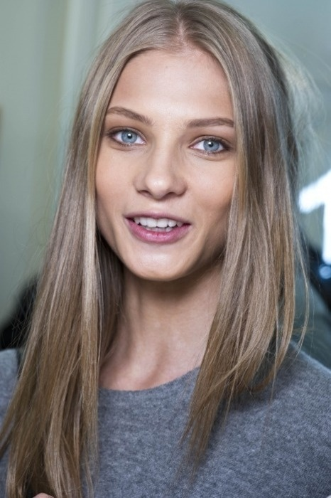 I really want to try and start rocking the center part. Ash blonde