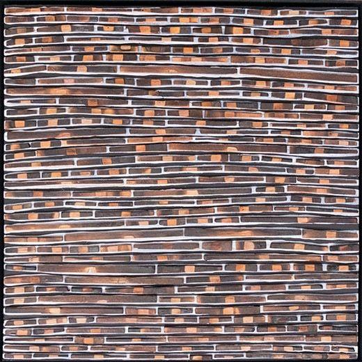 WRINKLE & SLIDE by David Roach Charred cedar, acrylic on board.                    36 x 36 cm $880