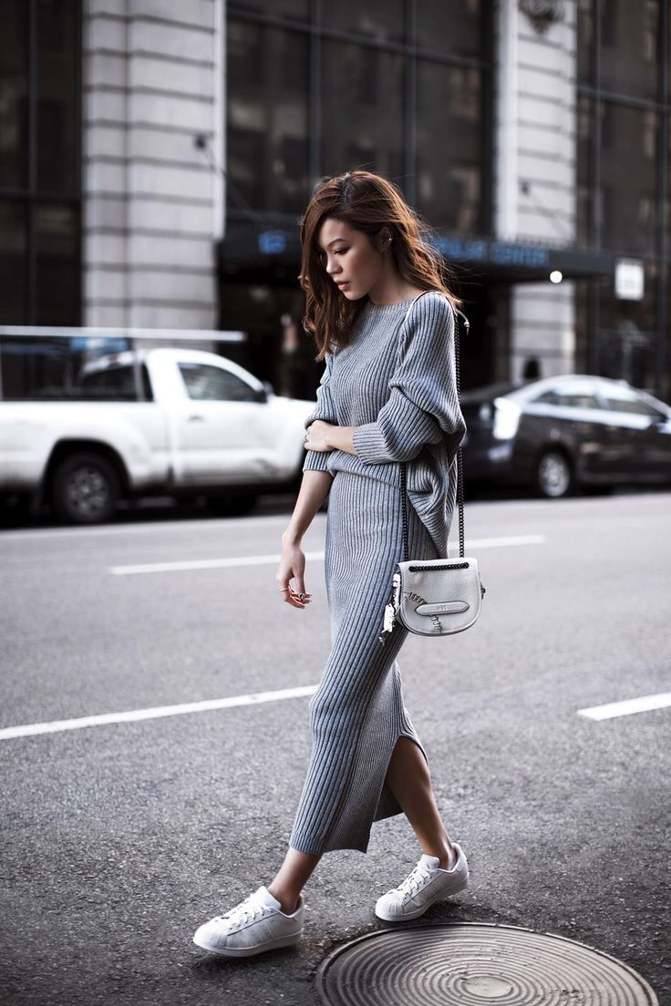 An Effortlessly Cool Ribbed Knit Look To Try Now | #minimal #gray