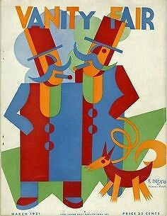 FORTUNATO DEPERO , RIVISTA/MAGAZINE VANITY FAIR ORIGINALE 1931 , FUTURISMO