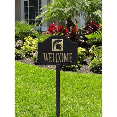 HensonMetalWorks Collegiate Yard Welcome Address Sign NCAA Team: Michigan State University