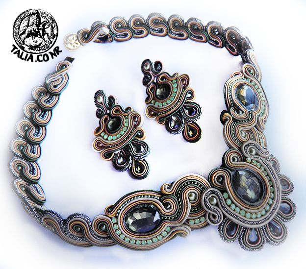 Grey soutache set