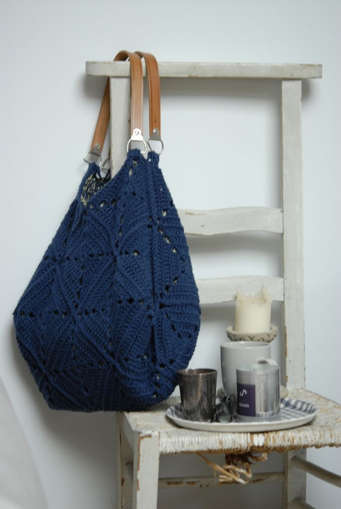 crochet bag - use cotton or twine