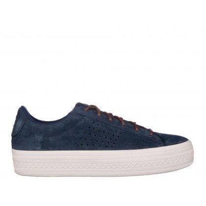 Pantofi sport Le Coq Sportif albastru inchis, din nabuc