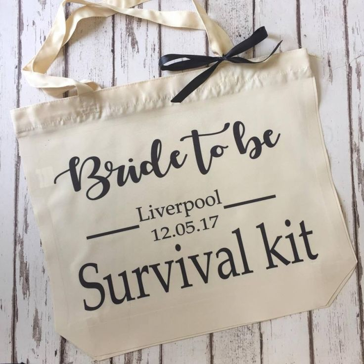 Bride to be survival kit bag Personalised bags