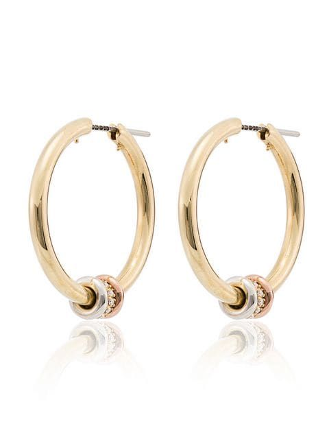 8f7130e872a21 Spinelli Kilcollin 18k Yellow Gold Diamond Hoop Earrings | Finishing ...