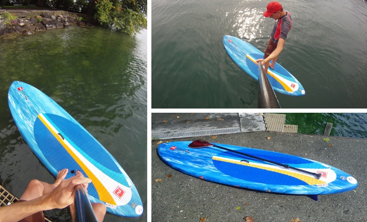 """Red Paddle Co. 9'2"""" Surfstar Inflatable Stand Up Paddling Board.     Stiff as wood - really nice!"""