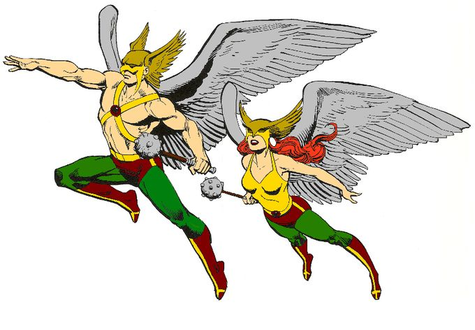 First Look At The CW's Hawkman and Hawkgirl!!