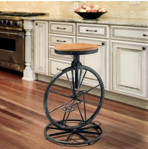 Unique Bar Stool Barstool Bicycle Seat Kitchen Counter Stools Adjustible Metal