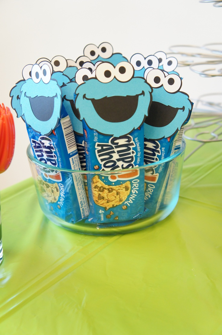 Cookie Monster Chips Ahoy Cookies Aidens 2nd Birthday