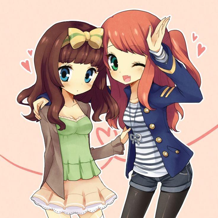 Dos chicas muy amigas anime pinterest mundo y amigos for Imagenes movibles anime