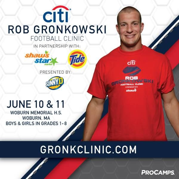 My Citi Youth  Clinic in partnership with Shaw's & Star Market and Tide presented by SunnyD is almost sold out! Make sure you sign up now at GronkClinic.com! #GronkSpikeLessons #CloserToPro