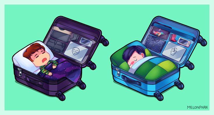 FAN ART by MELONPHAN on Tumblr: Sleepy travel buddies. This was supposed to be a Vidcon art after that whole airport incident with both of them and them not getting enough sleep but I couldn't finish it...