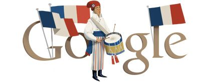 RW Awesomeness of the Day:  Bastille Day Google Doodle July 14 2012