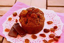 Muffins au chocolat et aux raisins secs