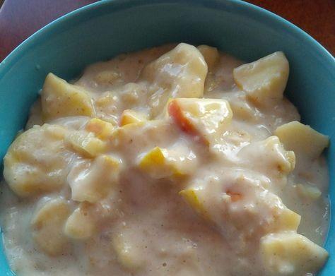 WW Porridge / Haferbrei mit Apfel, Banane und Zimt