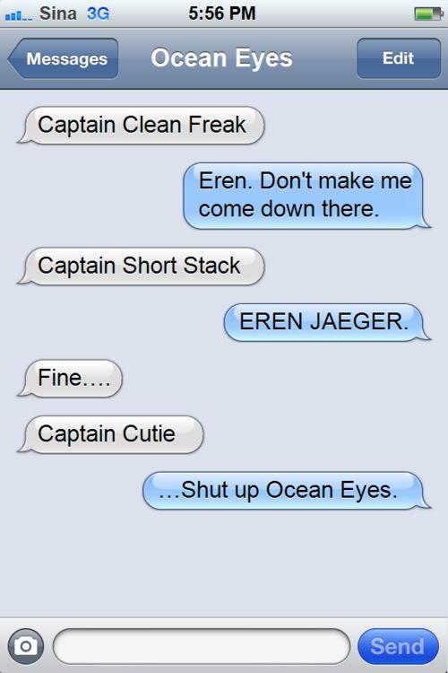 Captain Cutie x Ocean Eyes (Levi x Eren)