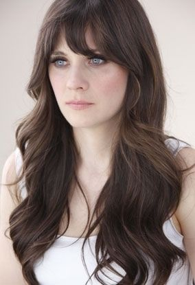 Praying my hair grows out long enough so I can have this style. Best of both of my favorite hair styles: long layers and bangs. Pea is this Jess from new girl?