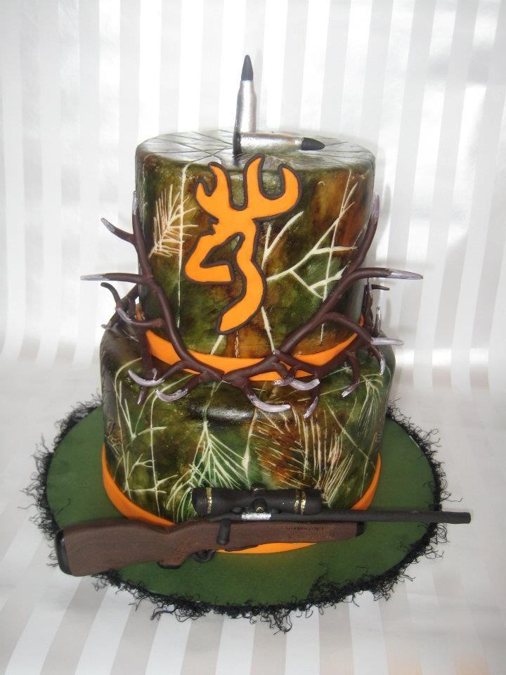 54 best Huntingfishing cake ideas images on Pinterest Anniversary