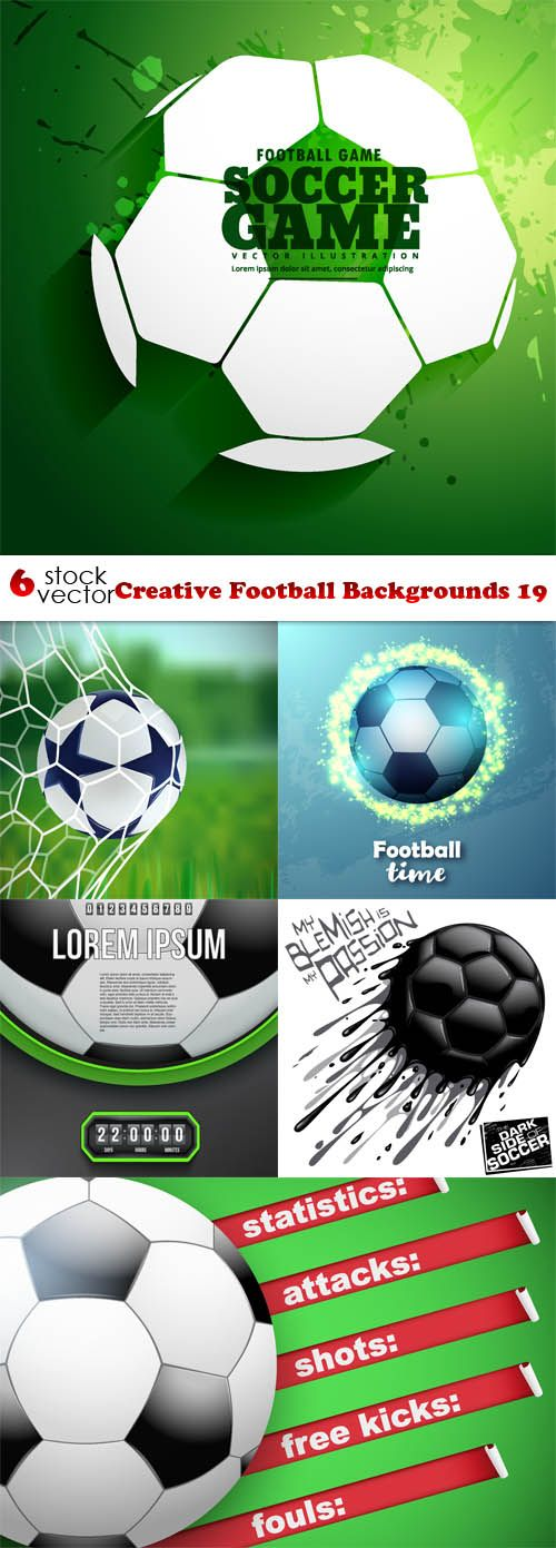 Vectors - Creative Football Backgrounds 19