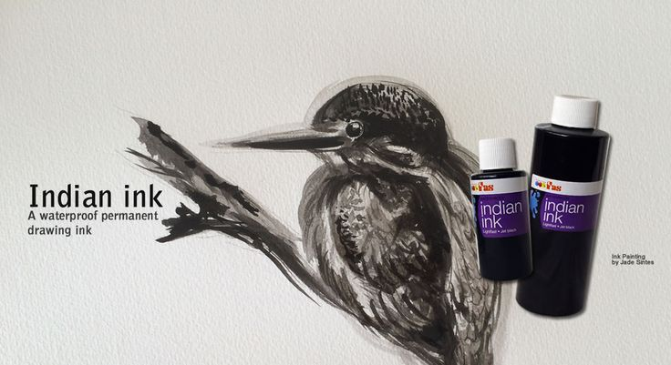 FAS Indian Ink: A jet black permanent drawing ink that is ideal for oriental and western ink drawing and painting techniques.    Including calligraphy - pens - brushes – airbrushes – dip pens.