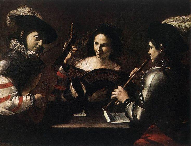 Mattia Preti Concert c. 1630  The Hermitage, St. Petersburg