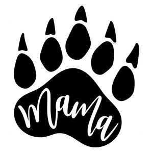 Silhouette Design Store: mama bear paw