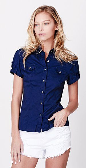 50 best daytime look images on pinterest casual shirts for Womens button down shirts fitted