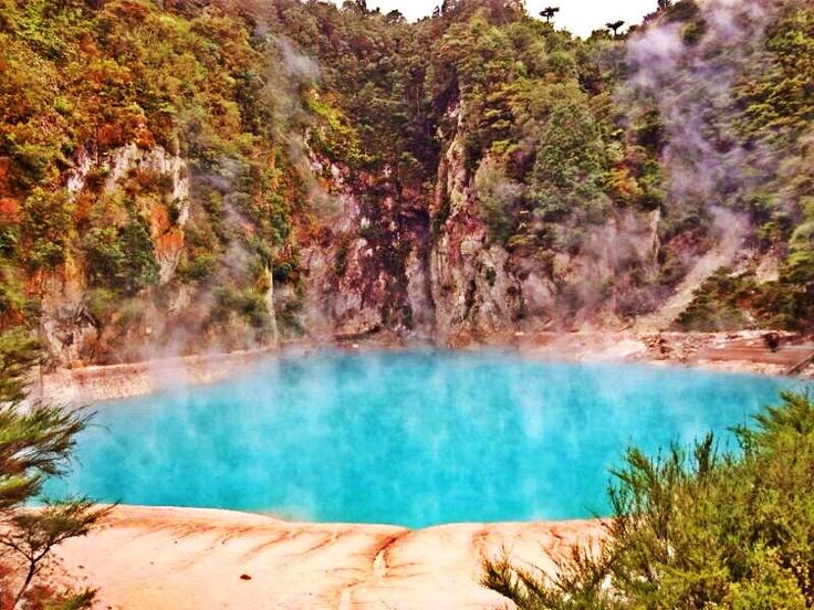 Inferno Craters, Waimangu Volcanic Valley, Rotorua, New Zealand.
