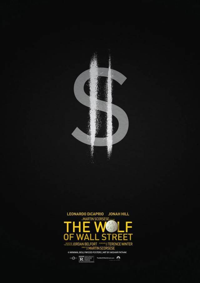 The wolf of wall street minimalist poster lifestyle for Minimalist living movie