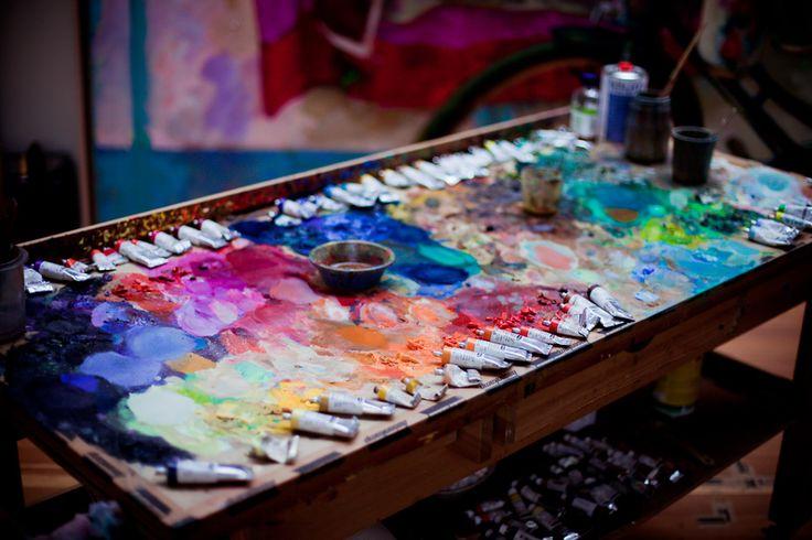 Xenia Hausner's paint palette