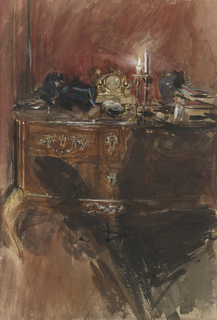 View of an Interior with Louis XV Commode. Giovanni Boldini
