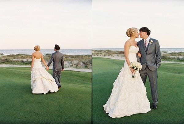 Свадьба в пастельных тонах на острове Kiawah в Южной Каролине