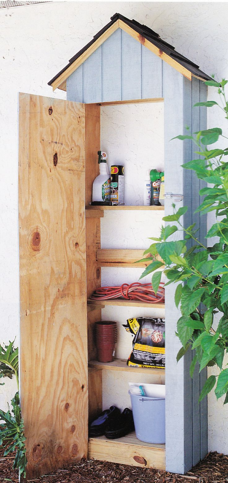 Outdoor Storage Centre From 2x4 Projects For Outdoor