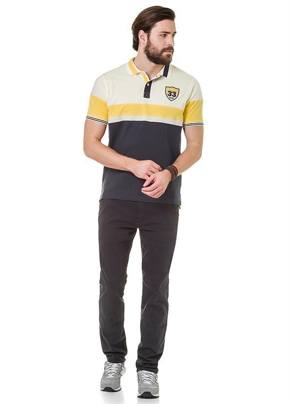 Camisa Polo Malha Piquet Hangar 33 Cinza R$ 107,99