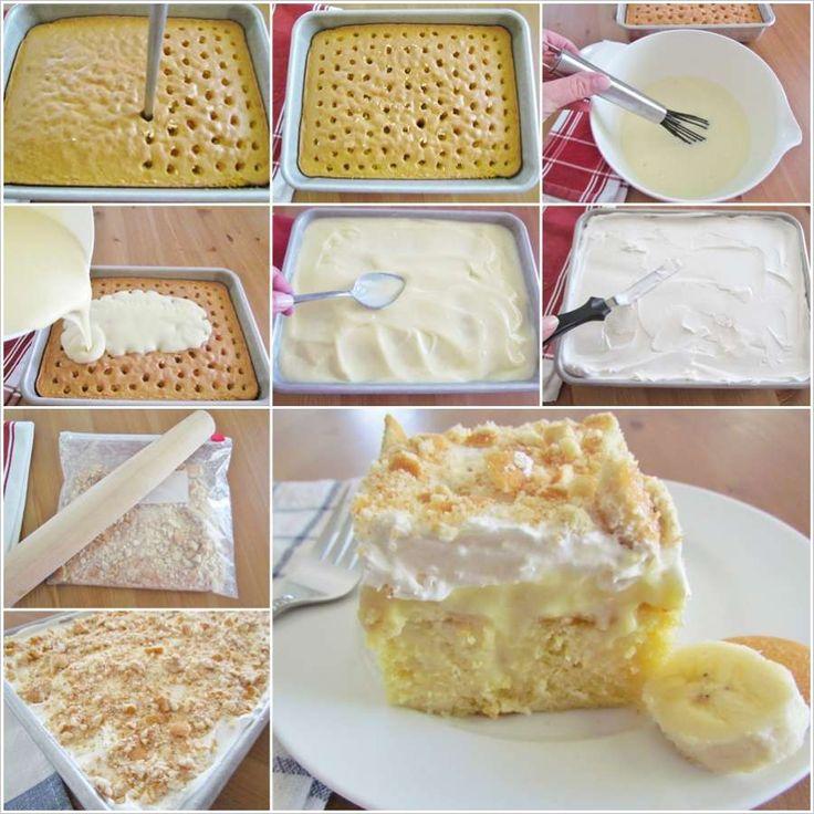 Recipe of today: BANANA PUDDING POKE CAKE