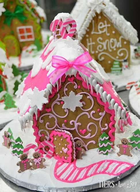 Pink Gingerbread House by Beverly's Bakery