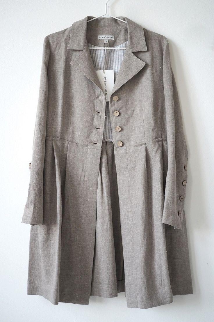 DTA Linen Coat, NATURAL - BYPIAS Linen Jackets - BYPIAS
