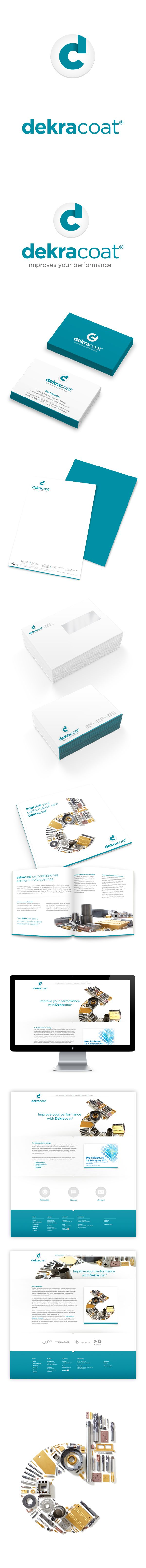 dekracoat Logo design, corporate identity, website by GiDesign Corporate design letterhead letter business card logo envelop colors graphic minimal website