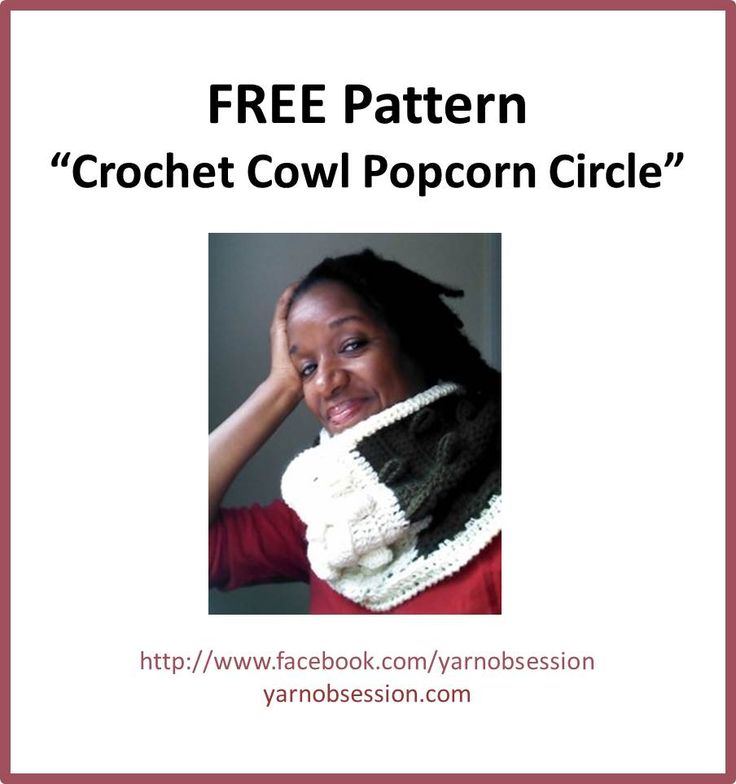 Free Crochet Pattern – The Crochet Cowl Popcorn Circle! warm and cosy the way I like it!!