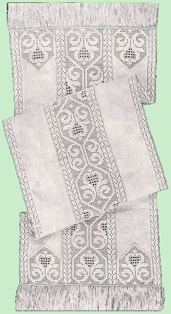 Heirloom Crochet - Vintage Crochet Patterns - Mary E. Fitch - Filet Crochet