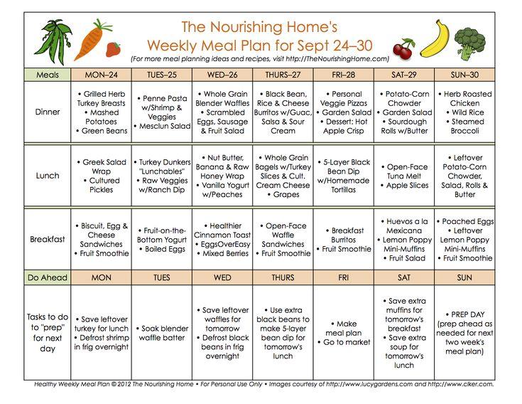 Bi-Weekly Meal Plan for September 17–30 - The Better Mom