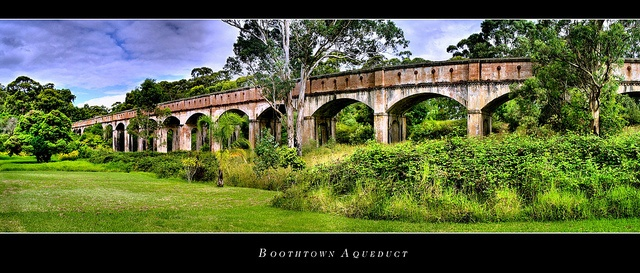 Boothtown Aqueduct, in Greystanes, Sydney, NSW, Australia