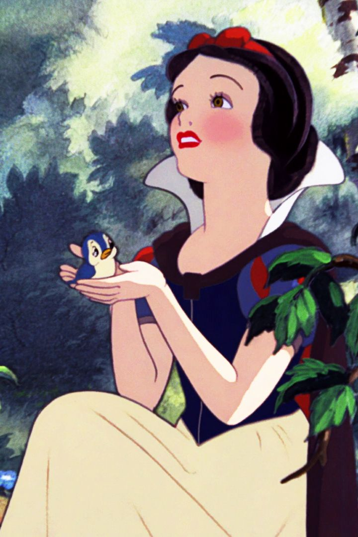 Disney's Snow White with blue bird