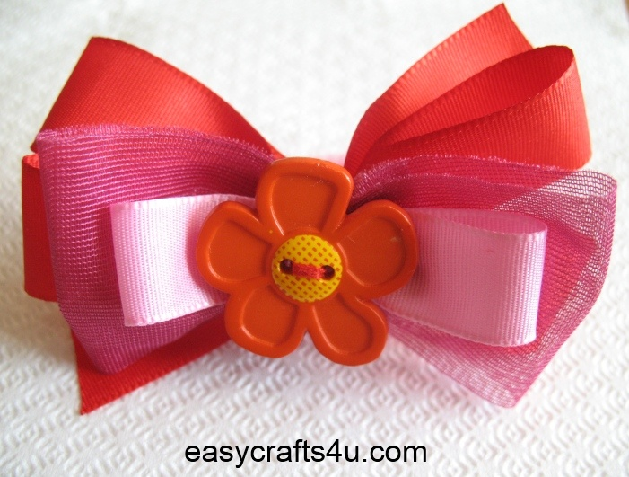 pretty flower bows for your little princess