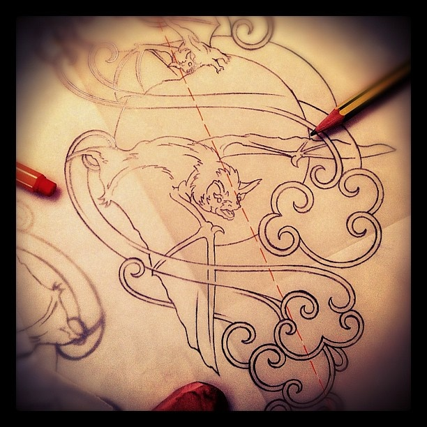 17 best images about my instagram sketchin 39 feed on for Bat moon tattoo