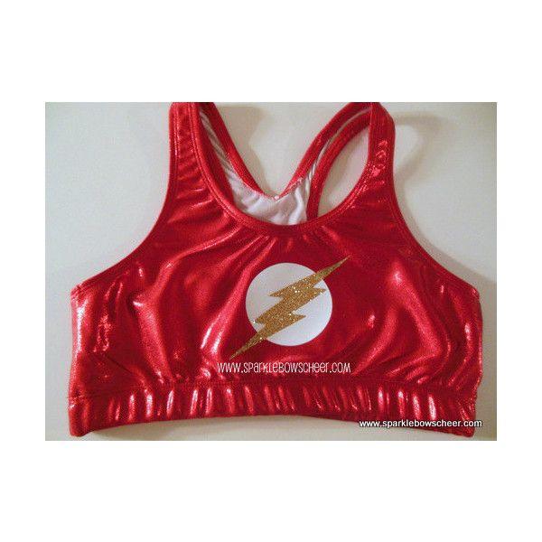 Flash Super Hero Metallic Sports Bra Cheerleading Yoga Running Working... ($25) ❤ liked on Polyvore featuring activewear, sports bras, tops, grey, women's clothing, athletic sportswear, sports bra, yoga sports bra, metallic sports bra and yoga activewear